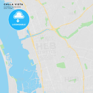 Printable street map of Chula Vista, California - HEBSTREITS