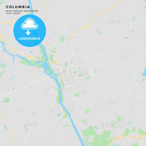 Printable street map of Columbia, South Carolina - HEBSTREITS
