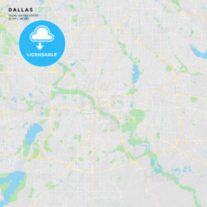 Printable street map of Dallas, Texas - HEBSTREITS