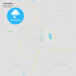 Printable street map of Datong, China - HEBSTREITS
