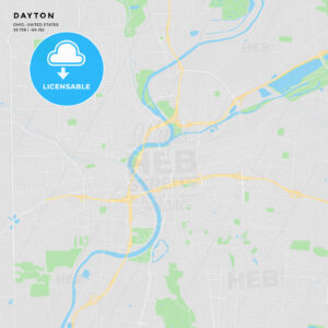 Printable street map of Dayton, Ohio - HEBSTREITS