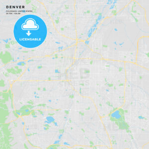 Printable street map of Denver, Colorado - HEBSTREITS