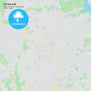 Printable street map of Durham, North Carolina - HEBSTREITS