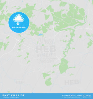 Printable street map of East Kilbride, Scotland - HEBSTREITS