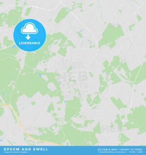 Printable street map of Epsom and Ewell, England - HEBSTREITS