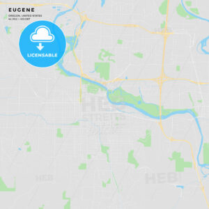 Printable street map of Eugene, Oregon - HEBSTREITS
