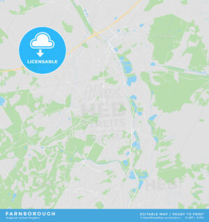 Printable street map of Farnborough, England - HEBSTREITS