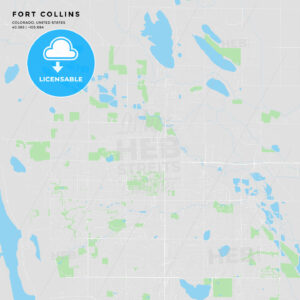 Printable street map of Fort Collins, Colorado - HEBSTREITS