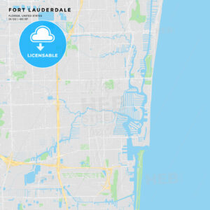 Printable street map of Fort Lauderdale, Florida - HEBSTREITS