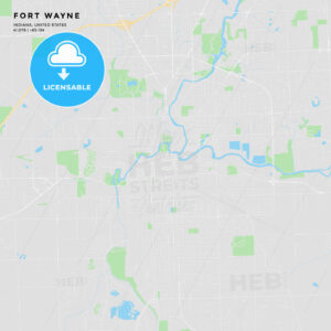 Printable street map of Fort Wayne, Indiana - HEBSTREITS