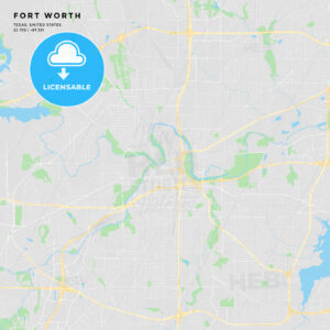 Printable street map of Fort Worth, Texas - HEBSTREITS