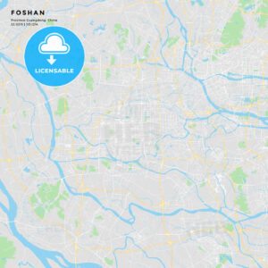Printable street map of Foshan, China - HEBSTREITS