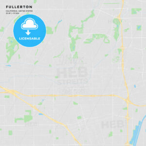 Printable street map of Fullerton, California - HEBSTREITS