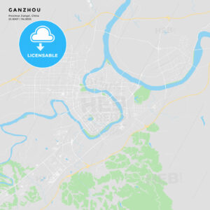 Printable street map of Ganzhou, China - HEBSTREITS