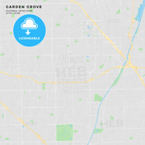 Printable street map of Garden Grove, California - HEBSTREITS