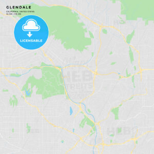 Printable street map of Glendale, California - HEBSTREITS