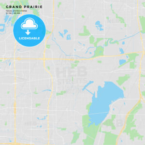 Printable street map of Grand Prairie, Texas - HEBSTREITS