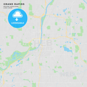 Printable street map of Grand Rapids, Michigan - HEBSTREITS