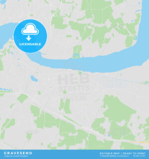Printable street map of Gravesend, England - HEBSTREITS