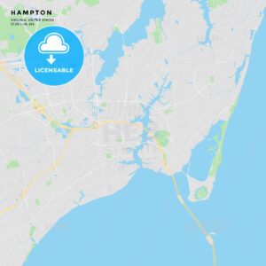 Printable street map of Hampton, Virginia - HEBSTREITS
