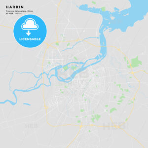 Printable street map of Harbin, China - HEBSTREITS
