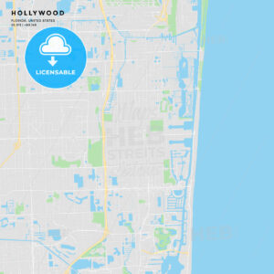 Printable street map of Hollywood, Florida - HEBSTREITS