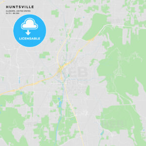 Printable street map of Huntsville, Alabama - HEBSTREITS
