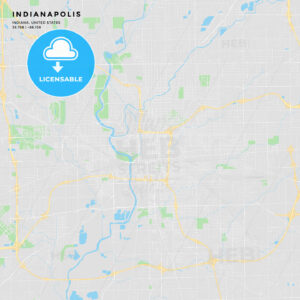 Printable street map of Indianapolis, Indiana - HEBSTREITS