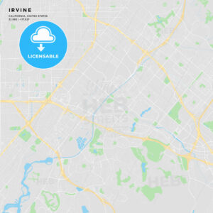 Printable street map of Irvine, California - HEBSTREITS
