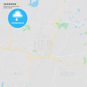 Printable street map of Jackson, Mississippi - HEBSTREITS