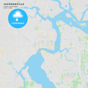 Printable street map of Jacksonville, Florida - HEBSTREITS