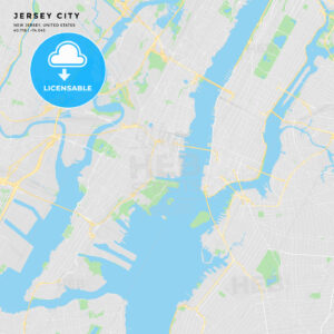 Printable street map of Jersey City, New Jersey - HEBSTREITS