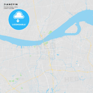 Printable street map of Jiangyin, China - HEBSTREITS