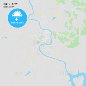 Printable street map of Jilin City, China - HEBSTREITS