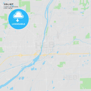 Printable street map of Joliet, Illinois - HEBSTREITS