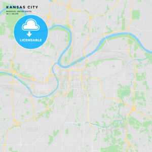 Printable street map of Kansas City, Missouri - HEBSTREITS