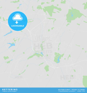 Printable street map of Kettering, England - HEBSTREITS
