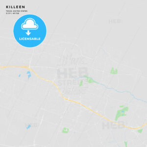 Printable street map of Killeen, Texas - HEBSTREITS
