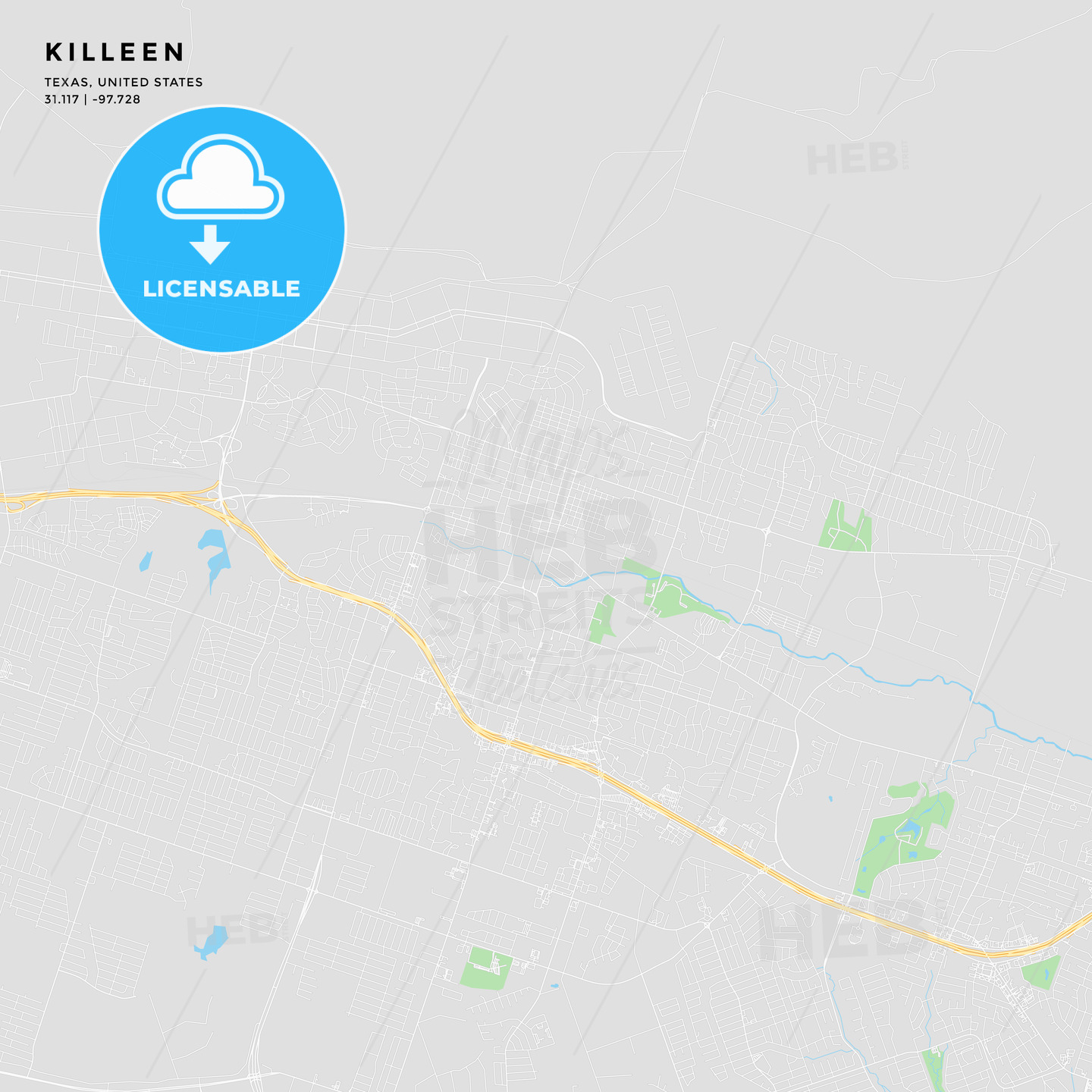 Printable Street Map Of Killeen Texas Hebstreits Sketches