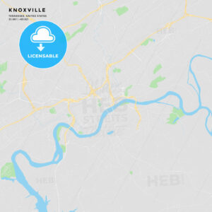 Printable street map of Knoxville, Tennessee - HEBSTREITS