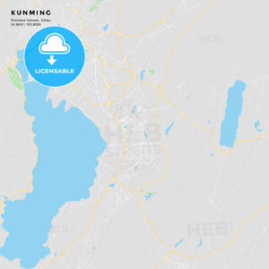 Printable Street Map Of Kunming China Hebstreits