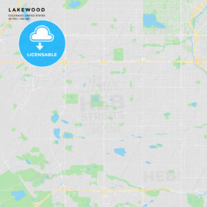 Printable street map of Lakewood, Colorado - HEBSTREITS