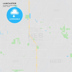 Printable street map of Lancaster, California - HEBSTREITS