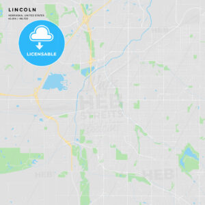Printable street map of Lincoln, Nebraska - HEBSTREITS