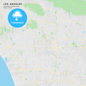 Printable street map of Los Angeles, California - HEBSTREITS