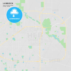 Printable street map of Lubbock, Texas - HEBSTREITS