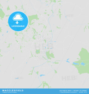 Printable street map of Macclesfield, England - HEBSTREITS