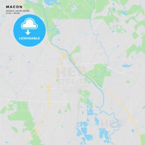 Printable street map of Macon, Georgia - HEBSTREITS