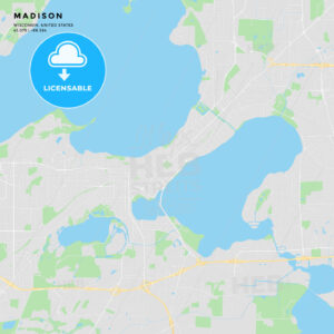 Printable street map of Madison, Wisconsin - HEBSTREITS