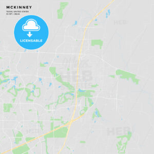Printable street map of McKinney, Texas - HEBSTREITS